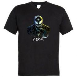 Мужская футболка  с V-образным вырезом Venom Bust Art