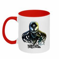 Кружка двухцветная 320ml Venom Bust Art