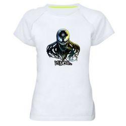 Женская спортивная футболка Venom Bust Art