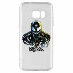 Чехол для Samsung S7 Venom Bust Art