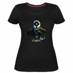 Женская стрейчевая футболка Venom Bust Art