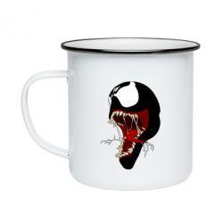 Кружка емальована Venom jaw