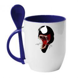 Кружка з керамічною ложкою Venom jaw