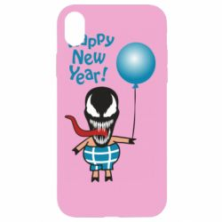 Чохол для iPhone XR Venom pig with a ball wishes a happy new year