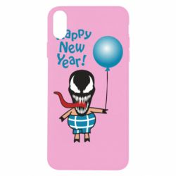 Чохол для iPhone Xs Max Venom pig with a ball wishes a happy new year