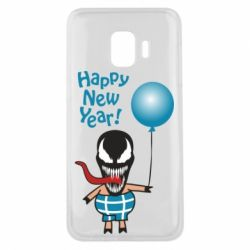 Чохол для Samsung J2 Core Venom pig with a ball wishes a happy new year