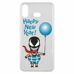 Чохол для Samsung A6s Venom pig with a ball wishes a happy new year