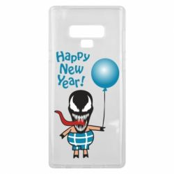 Чохол для Samsung Note 9 Venom pig with a ball wishes a happy new year