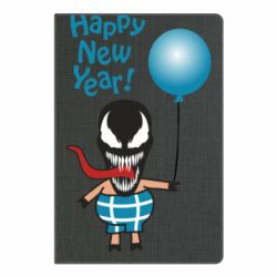 Блокнот А5 Venom pig with a ball wishes a happy new year