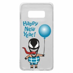 Чохол для Samsung S10e Venom pig with a ball wishes a happy new year