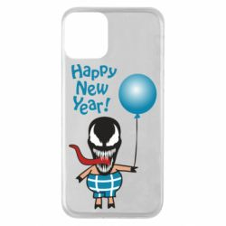 Чохол для iPhone 11 Venom pig with a ball wishes a happy new year