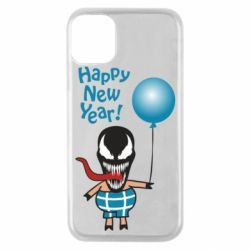 Чохол для iPhone 11 Pro Venom pig with a ball wishes a happy new year
