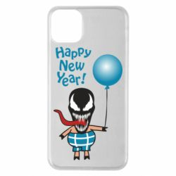 Чохол для iPhone 11 Pro Max Venom pig with a ball wishes a happy new year