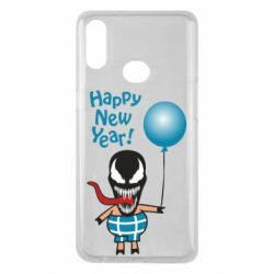 Чохол для Samsung A10s Venom pig with a ball wishes a happy new year