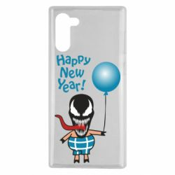 Чохол для Samsung Note 10 Venom pig with a ball wishes a happy new year