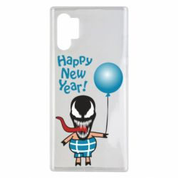 Чохол для Samsung Note 10 Plus Venom pig with a ball wishes a happy new year