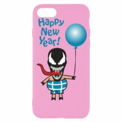 Чохол для iPhone 7 Venom pig with a ball wishes a happy new year