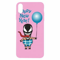 Чохол для iPhone X/Xs Venom pig with a ball wishes a happy new year