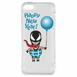 Чохол для iphone 5/5S/SE Venom pig with a ball wishes a happy new year