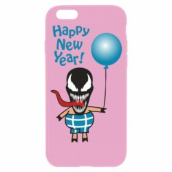 Чохол для iPhone 6/6S Venom pig with a ball wishes a happy new year