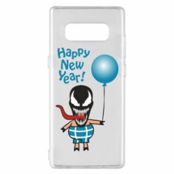 Чохол для Samsung Note 8 Venom pig with a ball wishes a happy new year