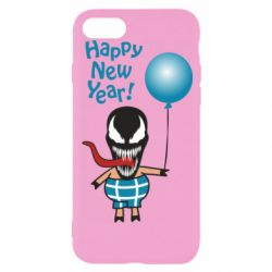 Чохол для iPhone 8 Venom pig with a ball wishes a happy new year