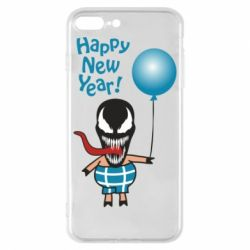 Чохол для iPhone 8 Plus Venom pig with a ball wishes a happy new year