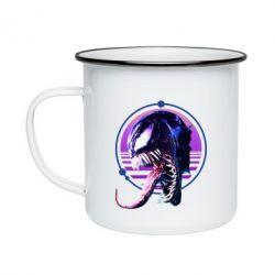 Кружка емальована Venom profile