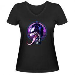 Жіноча футболка з V-подібним вирізом Venom profile