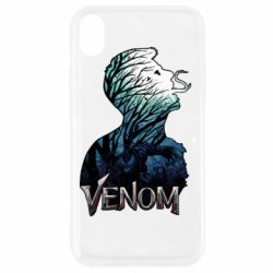 Чохол для iPhone XR Venom silhouette art
