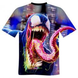 Мужская 3D футболка Venom slime