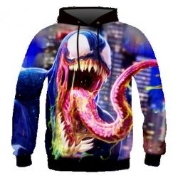 Мужская 3D толстовка Venom slime