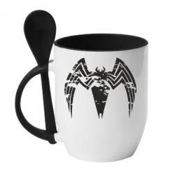 Кружка з керамічною ложкою Venom Spider