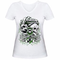 Женская футболка с V-образным вырезом Venum Brazilian Fighters - FatLine