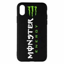 Чохол для iPhone X/Xs Вертикальний Monster Energy