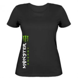 Женская футболка Вертикальный Monster Energy