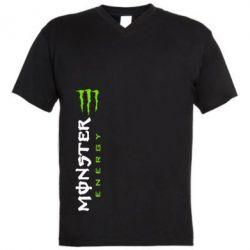 Мужская футболка  с V-образным вырезом Вертикальный Monster Energy