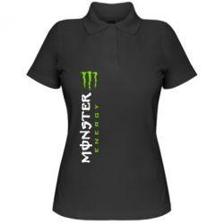 Женская футболка поло Вертикальный Monster Energy