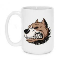 Кружка 420ml Very angry pitbull