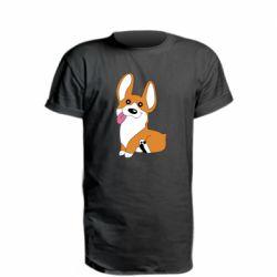 Удлиненная футболка Веселый корги