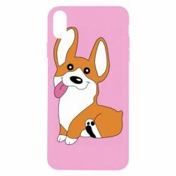 Чехол для iPhone Xs Max Веселый корги