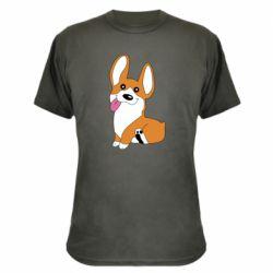 Камуфляжная футболка Веселый корги