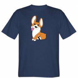 Мужская футболка Веселый корги