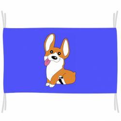 Флаг Веселый корги