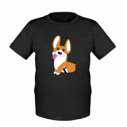 Детская футболка Веселый корги