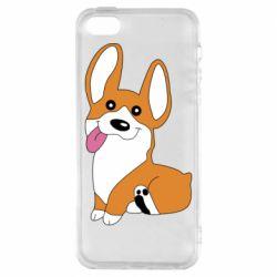 Чехол для iPhone5/5S/SE Веселый корги