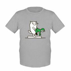 Детская футболка Вежливый кот - FatLine