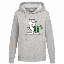 Женская толстовка Вежливый кот - FatLine