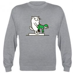 Реглан (свитшот) Вежливый кот - FatLine
