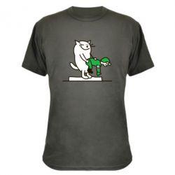 Камуфляжная футболка Вежливый кот - FatLine